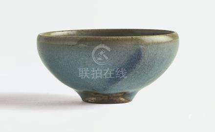 北宋   鈞窰藍釉紫斑小盌