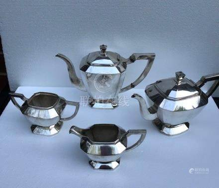 A Set of Chinese Export Silver Tea/Coffee Service