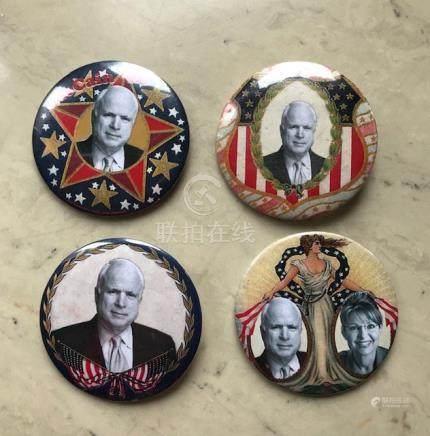 John McCain Presidential Campaign Buttons