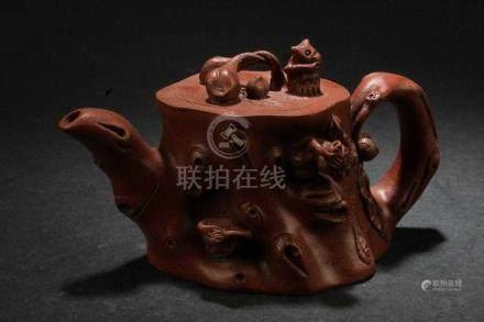Chinese Zisha Natural Form Teapot