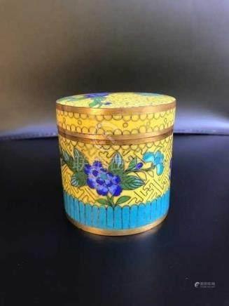 Antique Chinese Cloisonne Tea Caddy