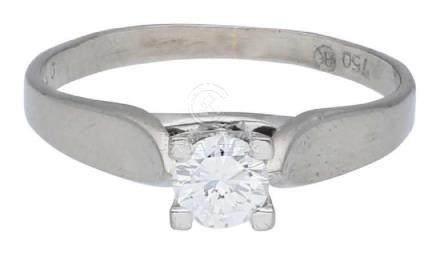 Solitär Ring, elegant, signiert Armin Kurz, in ...