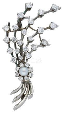 Perlen Brillant Brosche, sehr stilvoll, in ...