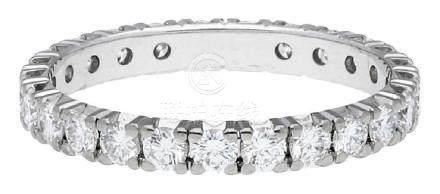 Diamant Ring, klassisches Memoir Modell, in ...