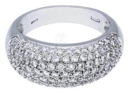 Diamant Ring, äusserst ansprechendes Design, in ...
