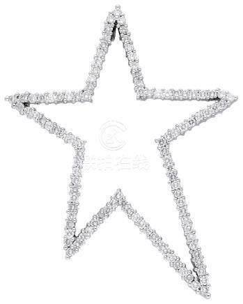 Diamant Anhänger, in Weissgold 18K, im ...