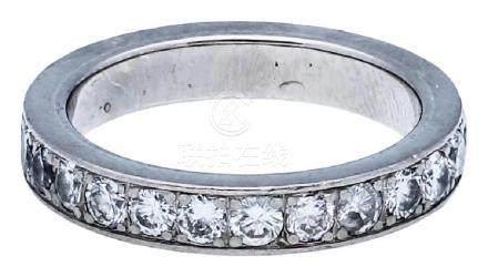 Memoire Ring, klassisches Modell, in Weissgold ...