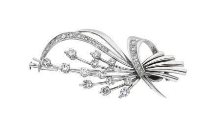 Diamantbrosche, sehr hübsch im Blumenstrauss ...
