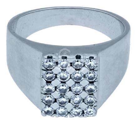 Diamant Ring, stilvoll, in Weissgold 18K, ...