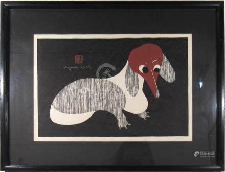SAITO, Kiyoshi (Japan, 1907-1997). Dachshund.