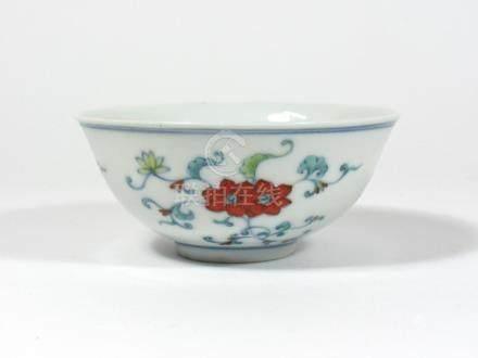 Doucai Bowl, Guangxu Mark.
