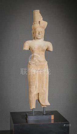 Khmer Sandstone Torso of Buddha 20th Century