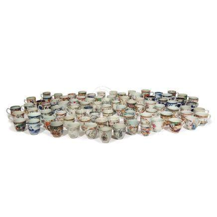 A COLLECTION OF EIGHTY-FIVE CHINESE COFFEE CUPS