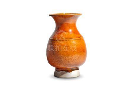 An amber-glazed vase Liao Dynasty