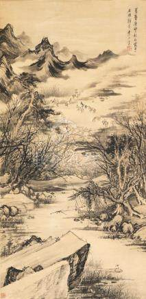 Li Shida (1550-1620) Boating on the Spring River