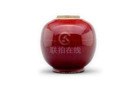 A sang de beouf ginger jar Qing Dynasty