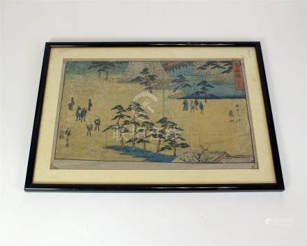 A pair of early 20th century Japanese wood block prints