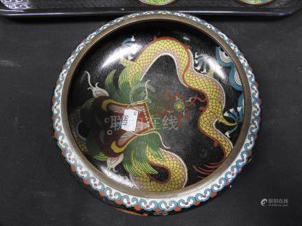 An associated group of six pieces of late 19th century Chinese cloisonne enamel