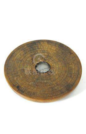 A mid-late 19th century Chinese compass