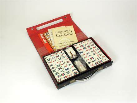 A mid-20th century Chinese cased Mah-Jong set