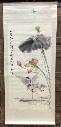 A CONTEMPORARY CHINESE SCROLL PAINTING