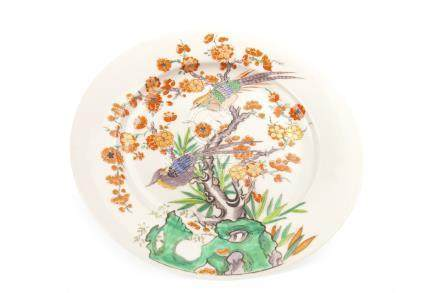 A LATE 19TH CENTURY CHINESE FAMILLE VERTE PLATE