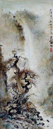 Lee Man Fong (1913-1988)'Autumn at Yanghang pool'. Signed and dated 1950. Label verso: Het