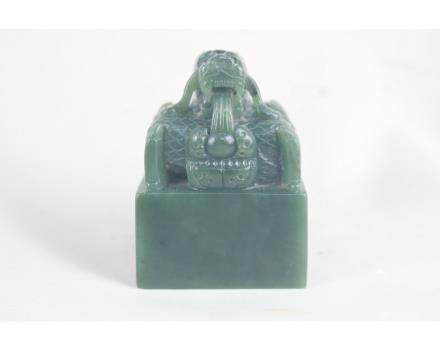 Chinese Green Jade Dragon Seal