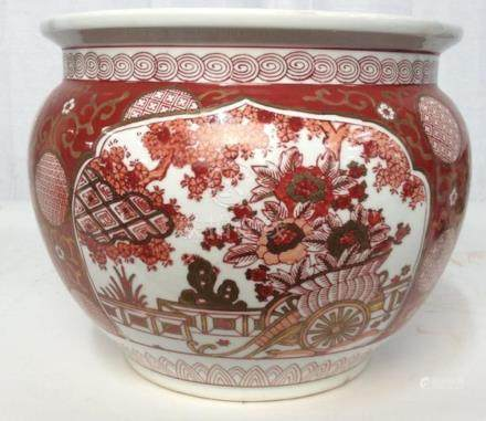 Asian Porcelain Ceramic Planter
