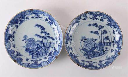A set of porcelain plates, China, Qianlong, 18th century.