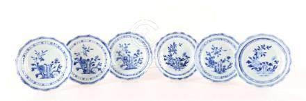 A series of six porcelain plates, China, Qianglong.