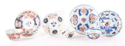 A lot or various Chinese Imari porcelain, cups and saucers,