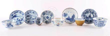A lot or various mainly blue / white porcelain, China, inclu