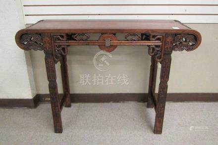 CHINESE MING STYLE ROSEWOOD ALTAR TABLE, featuring