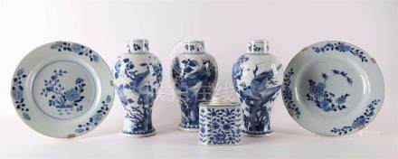 A lot or various blue / white Chinese porcelain, including C