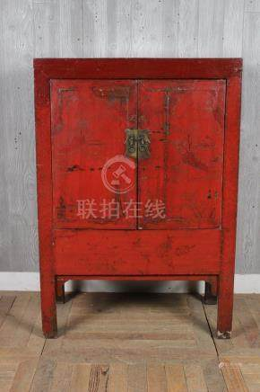 Asian Two Door Painted Cabinet