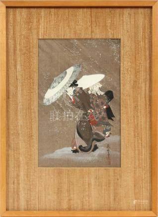 KITAGAWA FUJIMARO WOODBLOCK PRINT