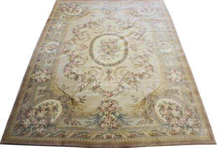 CHINESE AUBUSSON STYLE WOOL RUG