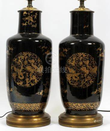 CHINESE PORCELAIN VASES CONVERTED TO TABLE LAMPS