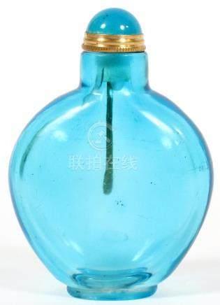"""CHINESE PEKING GLASS SNUFF BOTTLE, H 3"""""""