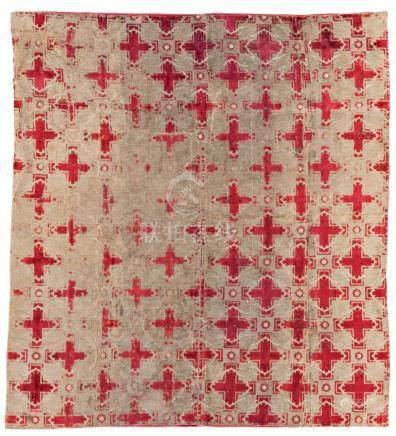 Silk Velvet Textile Fragment