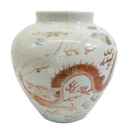A Chinese famille rose vase, Yongzheng mark and