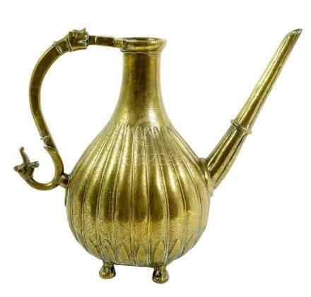 A heavy 18th Century Mughal Ewer or Coffee Pot