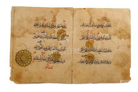 TEN FOLIOS FROM JUZ' 9 Egypt or Syria, 14th - 15th