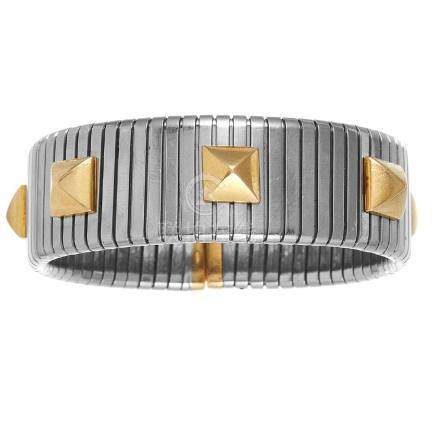 A 'TURBOGAS' STUDDED BRACELET, BULGARI in 18ct yellow