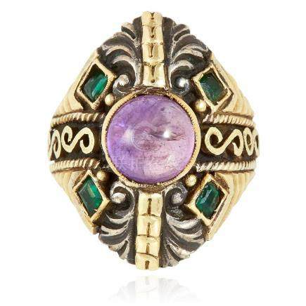 AN ANTIQUE AMETHYST RING, SPANISH 19TH CENTURY in