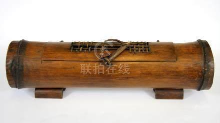 An East Asian bamboo censer, W. 39cm.