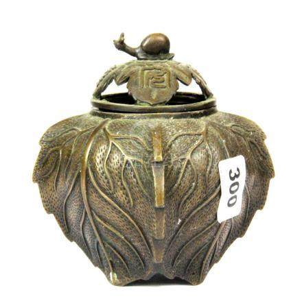 An early 20th century Chinese bronze censer, H. 16cm. Prov. Private Collection.