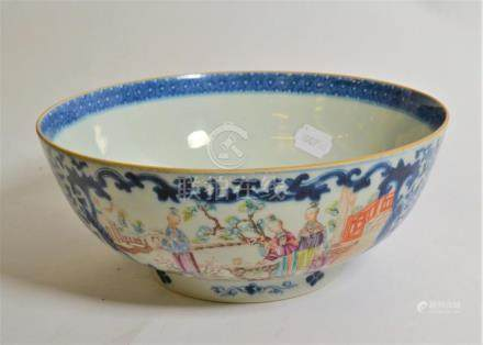 Chinese porcelain punch bowl, Qianlong (a.f)