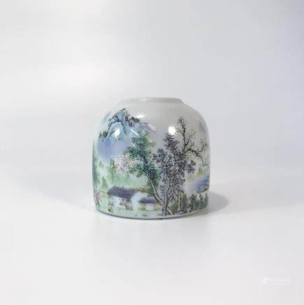 PASTEL COLORED WHITE WATER POT